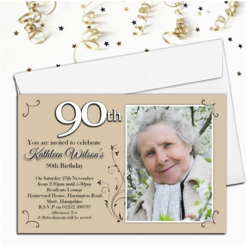 10 Personalised Birthday PHOTO Invitations N41 - Any Age